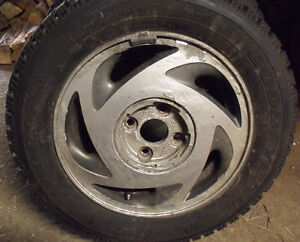 4 x P195/60R14 Goodyear Nordic Winter Tires & Rims Kawartha Lakes Peterborough Area image 2