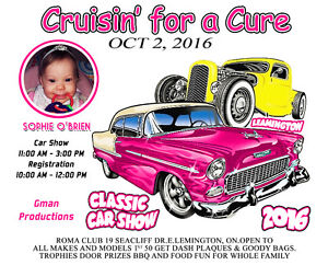 Car Show All Makes & Models are Welcome For Baby Sophie O'Brien