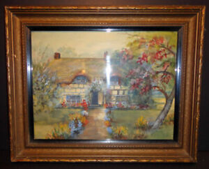 EARLY 20th Century WATERCOLOR Exquisite Frame