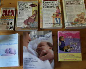7 Expecting Parent Books- Pregnancy Bible, Baby Names, Sign Kit