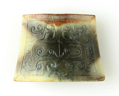 ANCIENT CHINESE WARRING STATES JADE SWORD CHAPE