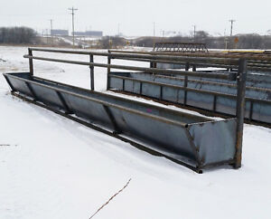 Silage/grain bunk feeder panels