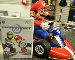 Mario Kart Game with Wii and Collectable Mario Kart Figure