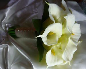 Looks & Feels Real White & Ivory Wedding Bouquet Flowers. London Ontario image 1