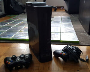 Xbox 360 (CoD MW2 Special Edition) - w/ 39 games, and 2 remotes