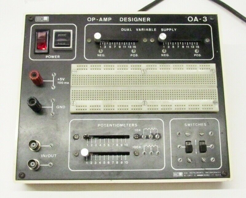 E & L Instruments OP-AMP OA-3 Designer Bread Board