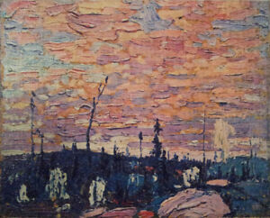 "Tom Thomson ""Sunrise"" panel"
