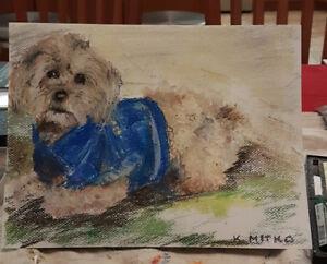 Painting for sale - dog's portrait, Oakville