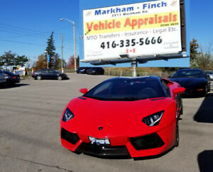 CERTIFIED CAR APPRAISALS $40 CALL (416) 335-5666 MTO Approved