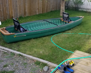 16.3 ft  frieghter canoe 4 sale/ trade for 12 or 14 ft aluminum