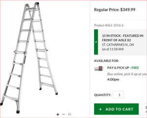 Title is---- Multi-Task Ladder, 21-ft ....300 pounds.