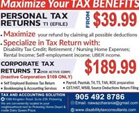 AFFORDABLE PERSONAL & CORPORATE TAX RETURNS PREPARATION/EFILING