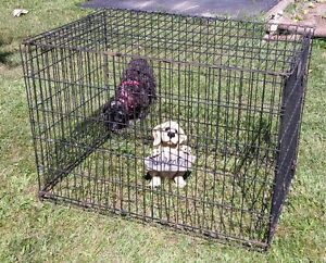 PORTABLE STEEL CAGE DOG KENNEL
