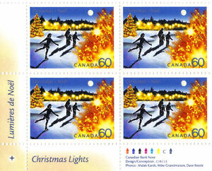 Canada Stamps - Christmas Lights 60c (2001) - Lower Left Corner West Island Greater Montréal image 1