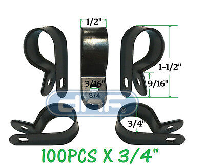100 Pack 34 Black Nylon Cable Clamp Uv Weather Resistant - Ships Free Today