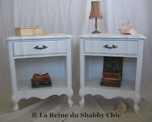 Tables de chevet Shabby Chic Provincial Francais