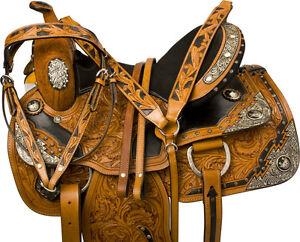 "16"" Leather Western Saddle + Tack Quarter Horse Silver Show New London Ontario image 2"