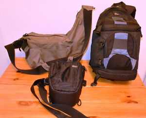 3 Lowepro camera bags one for each occasion