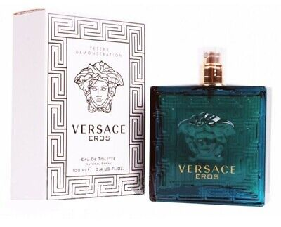 VERSACE EROS 3.4 EDT COLOGNE for MEN AUTHENTIC TESTER SPRAY NEW IN BOX