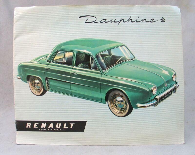 Vintage 1956 Renault Dauphine Advertising Brochure