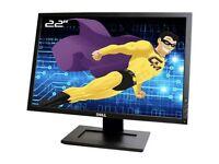 22inch Dell Monitor dvi , vga ports excellent condition
