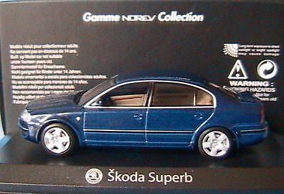 SKODA SUPERB 2004 TDI BLEU FONCE NOREV 840612 1/43 1:43 BERLINE SALOON