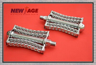 NEW SILVER Double Butterfly Square Twist Pedals Low Rider Bi