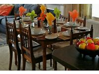 Dining table and 6 chairs Brazilian