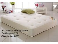 💚💚💚 AUTHENTIC MR MATTRESS POCKET SPRUNG & MEMORY CASHMERE MATTRESSES - MASSIVE SAVINGS 🎉