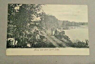 Along The West Shore Spirit Lake Iowa Postcard Post Card