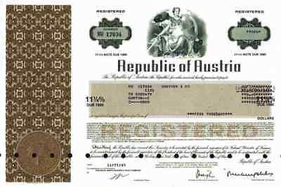 Bank New York (Republic of Austria 1985 New York  European American Bank Wien Österreich 5000 $)