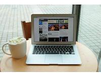 13' Apple MacBook Air Core i5 1.6Ghz 4gb 121GB SSD Adobe Photoshop illustrator Final Cut Pro