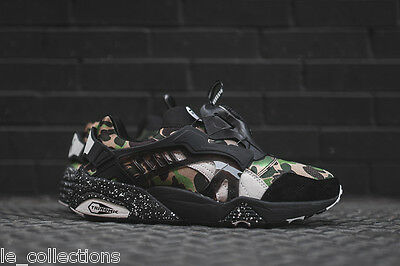 BNIB A BATHING APE x PUMA DISC Blaze Green Camo Mens Sneakers 100%AUTH LTD 9