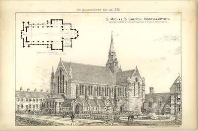 1878 St Michaels Church, Northampton, Second Design Burder Barker
