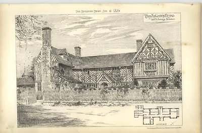 1879 Plan Of A Country House, John D Sedding Architect