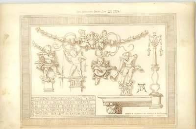 1879 Albert Durer Designs The Decorations Style Della Robbia Cherubs