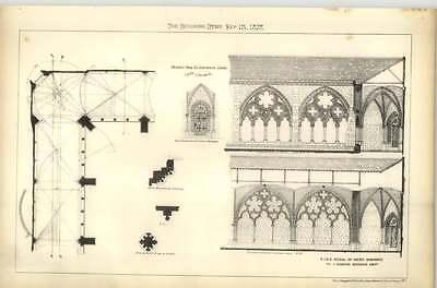 1878 Medal Of Merit, Je Martin Brooks Design Hop Cloister 15th Century