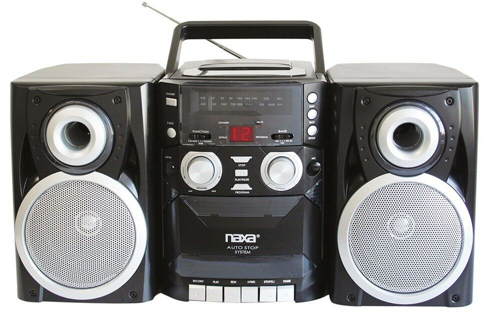 Naxa Electronics Npb-426 Portable Cd Player With Amfm Stereo Radio, Cassette Playerrecorder & Twin Detachable Speakers 7