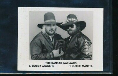 1986 Bobby Jaggers Dutch Mantel press promo photo kansas Jayhawks 4x6 wrestling