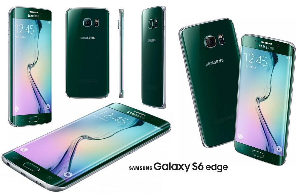 Samsung Galaxy S6 Edge Mobile Phone - Green - SIM FREE - 32GB