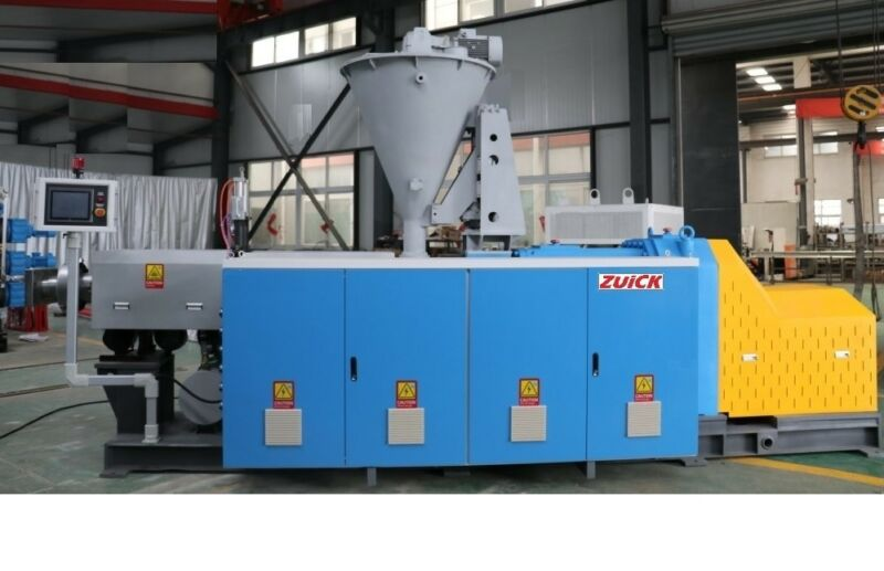 2017  ZUICK Conical Twin Screw Extruder ZK85 For WPC (Wood + Plastic Compounds)
