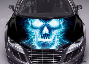 STICKER DECAL VINYL COLOR HOOD FIT ANY CAR SKULL #109