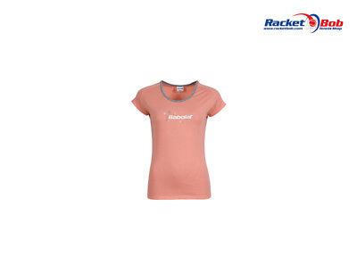 BABOLAT Core Mädchen Tennis T-Shirt Pink 12-14 Jahre Gr. 164 NEU ! - Mädchen Tennis Shirt