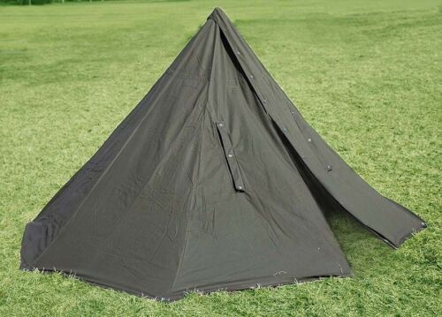 POLISH ARMY NOS MILITARY LAAVU TENT 2 PERSON 2x PONCHO SHELTER TARP HALF TIPI s1