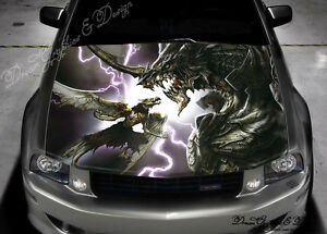 Dragon Full Color Graphics Adhesive Vinyl Sticker Fit Any