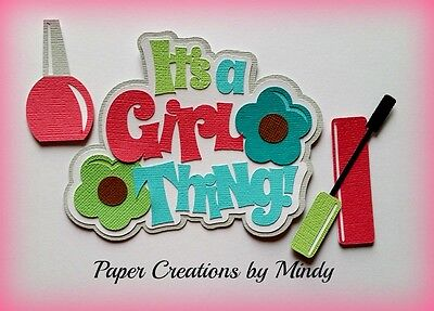 Craftecafe Mindy Beauty girl title  premade paper piecing for scrapbook page