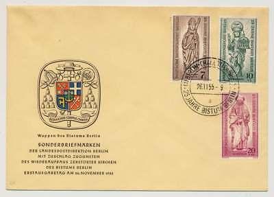 Berlin Nr. 132-134 auf Ersttagsbrief / FDC, Schmuckbrief (35133)