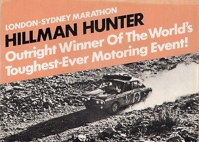 Hillman Hunter London-Sydney Marathon Victory 1968-69 UK Market Sales Brochure
