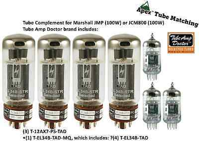 Tube set Marshall JMP 100W & JCM800 100W & JCM900 Tube Amp Doctor premium valves for sale  Shipping to Canada