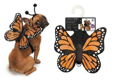 Dog Butterfly Costume (Butterfly Wing Dog Costume 3D Glow In The Dark Functional Harness Monarch)